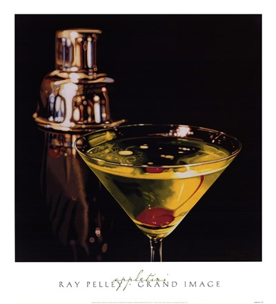 Appletini Poster by Ray Pelley for $46.25 CAD