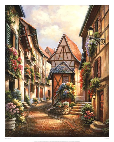 Village Court Poster by Sung Kim for $61.25 CAD