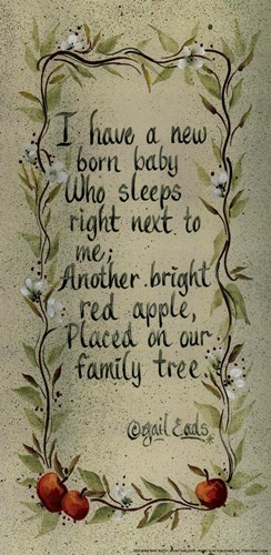New Born Baby Poster by Gail Eads for $7.50 CAD