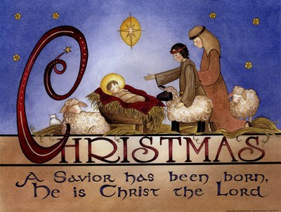 A Savior is Born Poster by Linda Spivey for $18.75 CAD