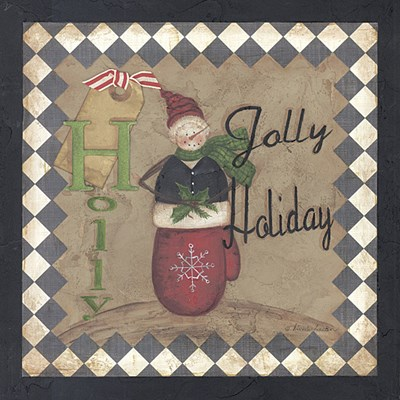 Holly Jolly Holiday Poster by Michele Deaton for $10.00 CAD