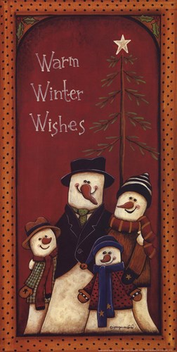 Warm Winter Wishes Poster by Tonya Crawford for $12.50 CAD
