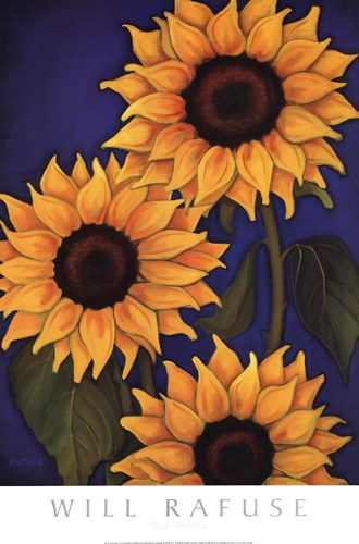 Sunflowers Poster by Will Rafuse for $35.00 CAD