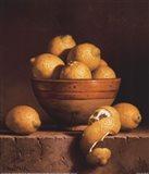 Lemons in a Bowl with Peel