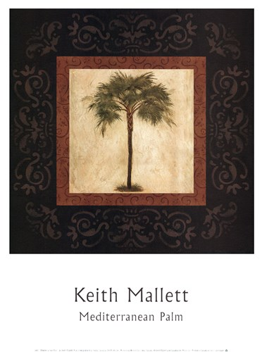 Mediterranean Palm Poster by Keith Mallett for $12.50 CAD