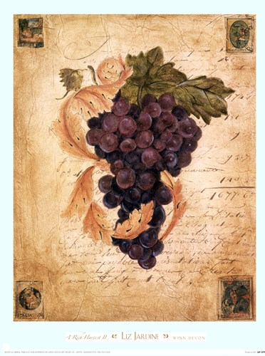 A Rich Harvest II Poster by Liz Jardine for $15.00 CAD
