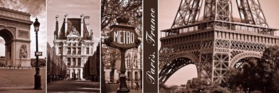 A Glimpse of Paris Poster by Jeff Maihara for $26.25 CAD