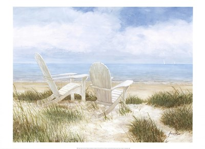 Beach Chairs Poster by Arnie Fisk for $40.00 CAD