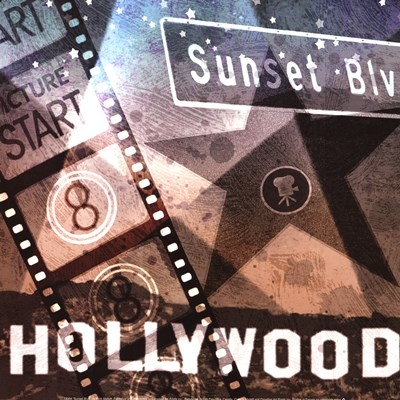 Sunset Blvd Poster by Keith Mallett for $18.75 CAD