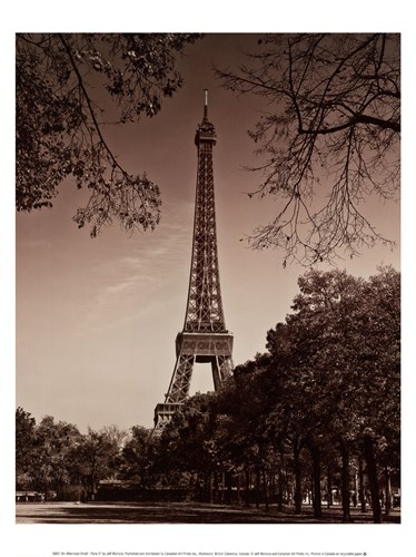 An Afternoon Stroll - Paris II Poster by Jeff Maihara for $13.75 CAD
