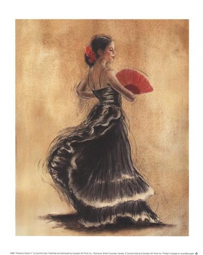 Flamenco Dancer II Poster by Caroline Gold for $11.25 CAD