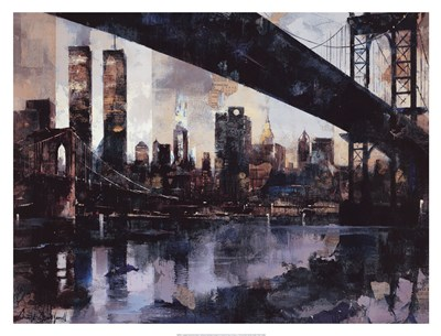Manhattan Skyline Poster by Marti Bofarull for $163.75 CAD