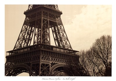La Belle Eiffel Poster by Marina Drasnin Gilboa for $58.75 CAD
