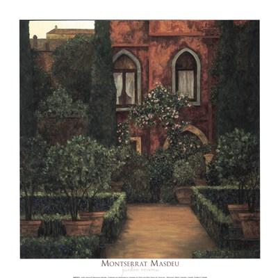 Jardin Verona Poster by Montserrat Masdeu for $18.75 CAD