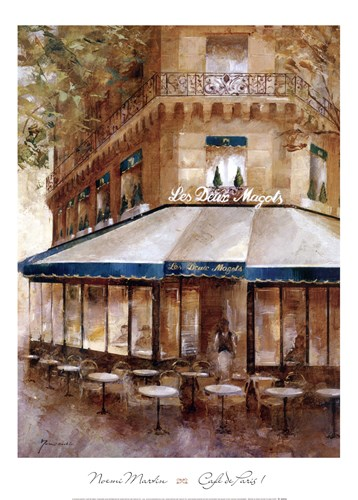 Cafe De Paris I Poster by Noemi Martin for $42.50 CAD