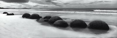 Moeraki Boulders Panorama Poster by Monte Nagler for $37.50 CAD
