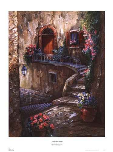 Amalfi Coast Passage Poster by Roger Duvall for $40.00 CAD