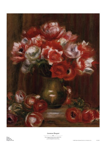 Anemone Bouquet Poster by Pierre-Auguste Renoir for $35.00 CAD