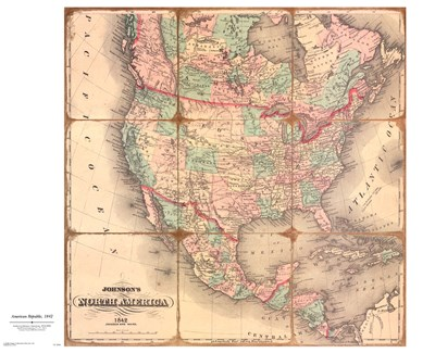 American Republic,1842A Poster by Andrew Johnson for $45.00 CAD