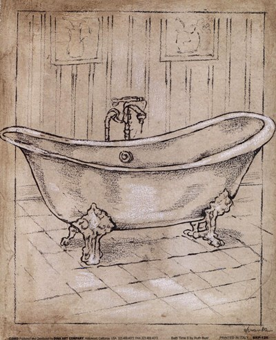 Bath Time II Poster by Ruth Bush for $12.50 CAD