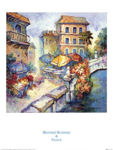 Venice Poster by Manfred Kuhnert for $35.00 CAD
