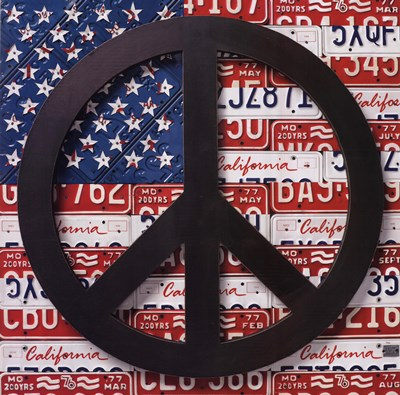 American Flag Peace Sign Poster by Aaron Foster for $46.25 CAD
