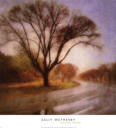 Autumn Road Poster by Sally Wetherby for $26.25 CAD