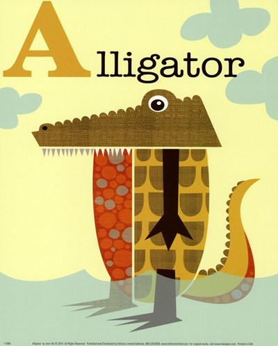 Alligator Poster by Jenn Ski for $11.25 CAD