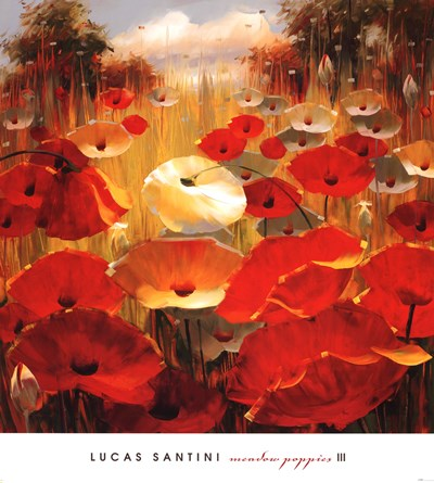 Meadow Poppies III Poster by Lucas Santini for $50.00 CAD