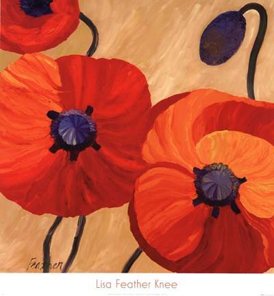 Oriental Poppy L Poster by Lisa Feather Knee for $46.25 CAD