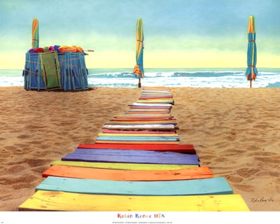 Beach Walk Poster by Robin Renee Hix for $33.75 CAD