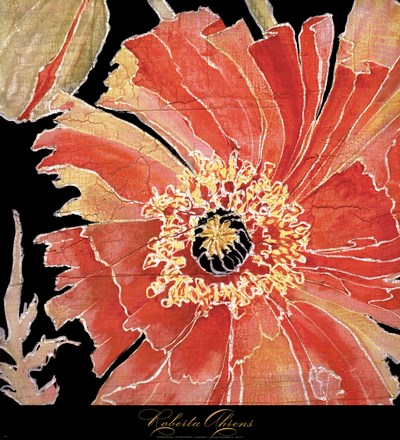 Oreintal Poppy Poster by Roberta Ahrens for $46.25 CAD