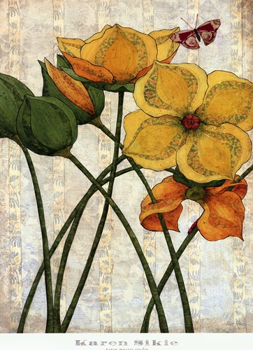 Yellow Flowers Poster by Karen Sikie for $33.75 CAD