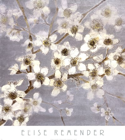 Silver Blossoms II Poster by Elise Remender for $26.25 CAD