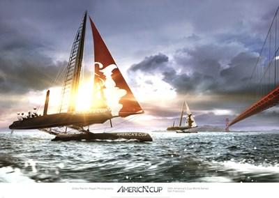 AC Bridge Race I Poster by Gilles Martin-Raget for $60.00 CAD