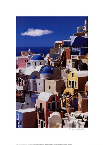 Pastel Village Poster by Yiorgos Depollas for $38.75 CAD