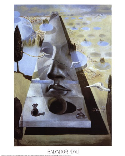 Apparition of the Face of Aphrodite of Knidos, c.1981 Poster by Salvador Dali for $26.25 CAD