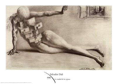 The City of Drawers, c.1936 Poster by Salvador Dali for $45.00 CAD