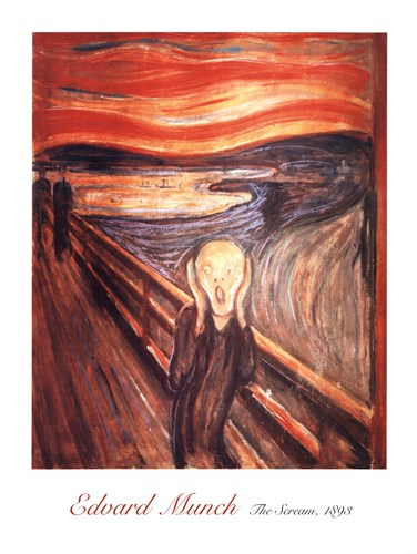 The Scream, c.1893 Poster by Edvard Munch for $53.75 CAD
