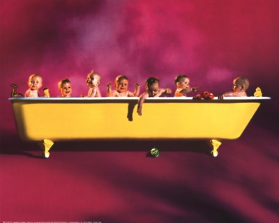 Yellow Tub Poster by Powdrill for $20.00 CAD