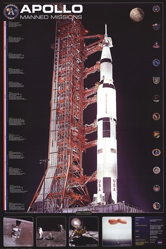 Apollo 11 Manned Mission Poster by Unknown for $26.25 CAD