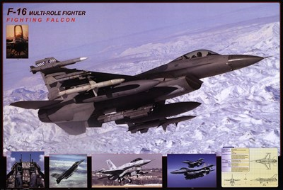 Airplane Fighting Falcon F-16 Poster by Unknown for $26.25 CAD