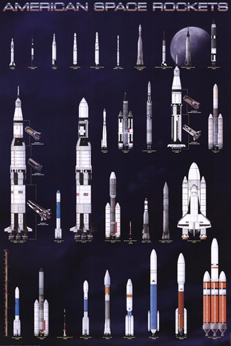 American Space Rockets Poster by Unknown for $31.25 CAD