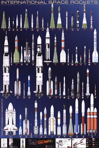 International Space Rockets Poster by Unknown for $31.25 CAD