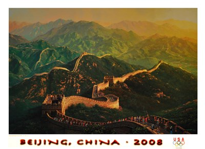 Beijing 2008 Summer Olympics Poster by Alexander Chen for $36.25 CAD