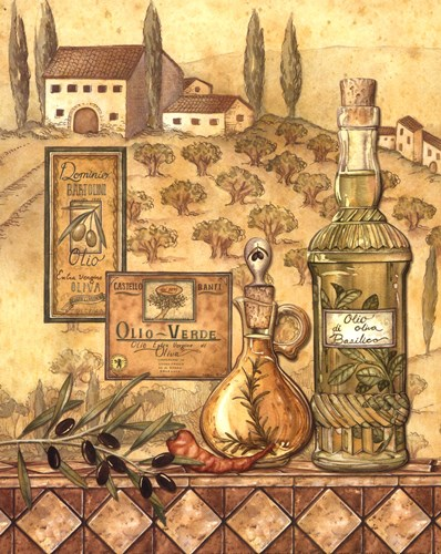 Flavors Of Tuscany I - Mini Poster by Charlene Audrey for $7.50 CAD