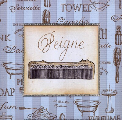 Bleu Beaute Feminine I - mini Poster by Charlene Audrey for $7.50 CAD