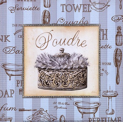 Bleu Beaute Feminine IV - mini Poster by Charlene Audrey for $7.50 CAD