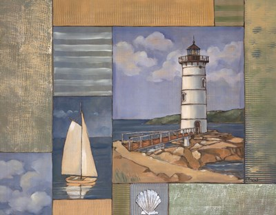 Lighthouse Collage II Poster by Paul Brent for $20.00 CAD