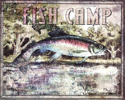 Fish Camp Poster by Paul Brent for $12.50 CAD